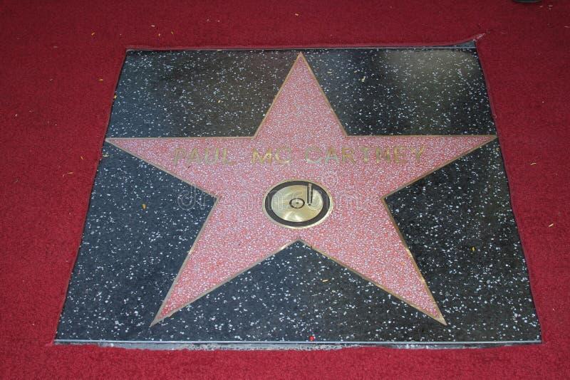 De Ster van Paul McCartney op de Gang Hollywood van de Ceremonie van de Bekendheid, Hollywood, CA 02-09-12 stock fotografie