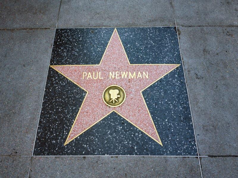 De Ster van Paul Newman ` s, Hollywood-Gang van Bekendheid - 11 Augustus, 2017 - Hollywood-Boulevard, Los Angeles, Californië, CA royalty-vrije stock foto