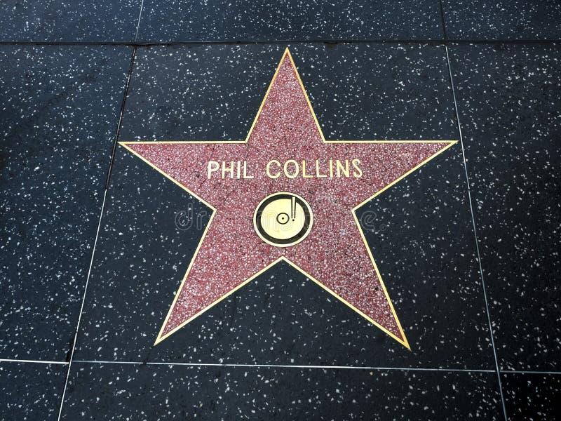 De Ster van Phil Collins ` s, Hollywood-Gang van Bekendheid - 11 Augustus, 2017 - Hollywood-Boulevard, Los Angeles, Californië, C stock afbeeldingen