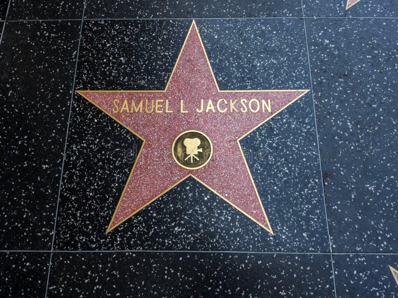 De Ster van Samuel L Jackson ` s, Hollywood-Gang van Bekendheid - 11 Augustus, 2017 - Hollywood-Boulevard, Los Angeles, Californi royalty-vrije stock fotografie
