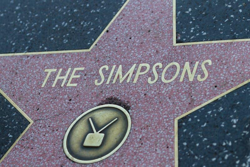 De Ster van Simpsons Hollywood stock foto's