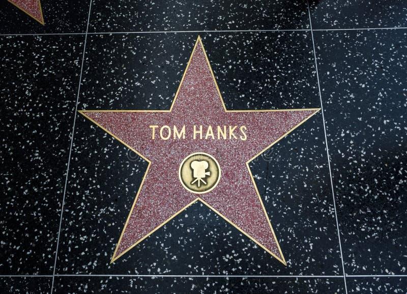 De Ster van Tom Hanks ` s, Hollywood-Gang van Bekendheid - 11 Augustus, 2017 - Hollywood-Boulevard, Los Angeles, Californië, CA royalty-vrije stock afbeelding