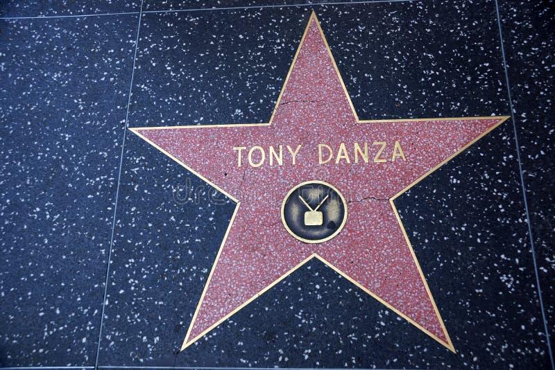 De ster van Tony Danza op Hollywood-Gang van Bekendheid stock foto's