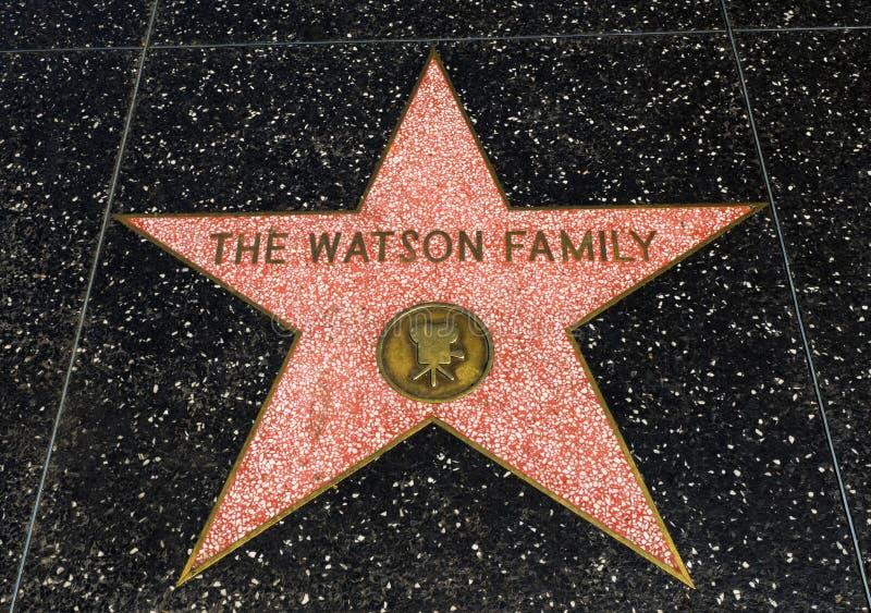 De Ster van Watson Family ` s, Hollywood-Gang van Bekendheid - 11 Augustus, 2017 - Hollywood-Boulevard, Los Angeles, Californië,  royalty-vrije stock afbeelding
