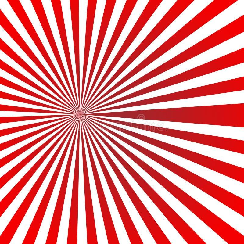 De ster van de zonzonnestraal barstte ontwerp van de de illustratie Retro kunst van de achtergrondpatroon rode kleur het vector royalty-vrije illustratie