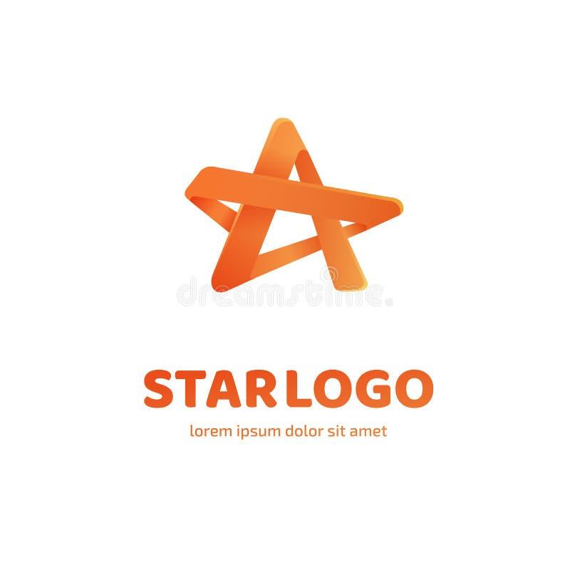 De ster vectormalplaatje van het embleemontwerp stock illustratie