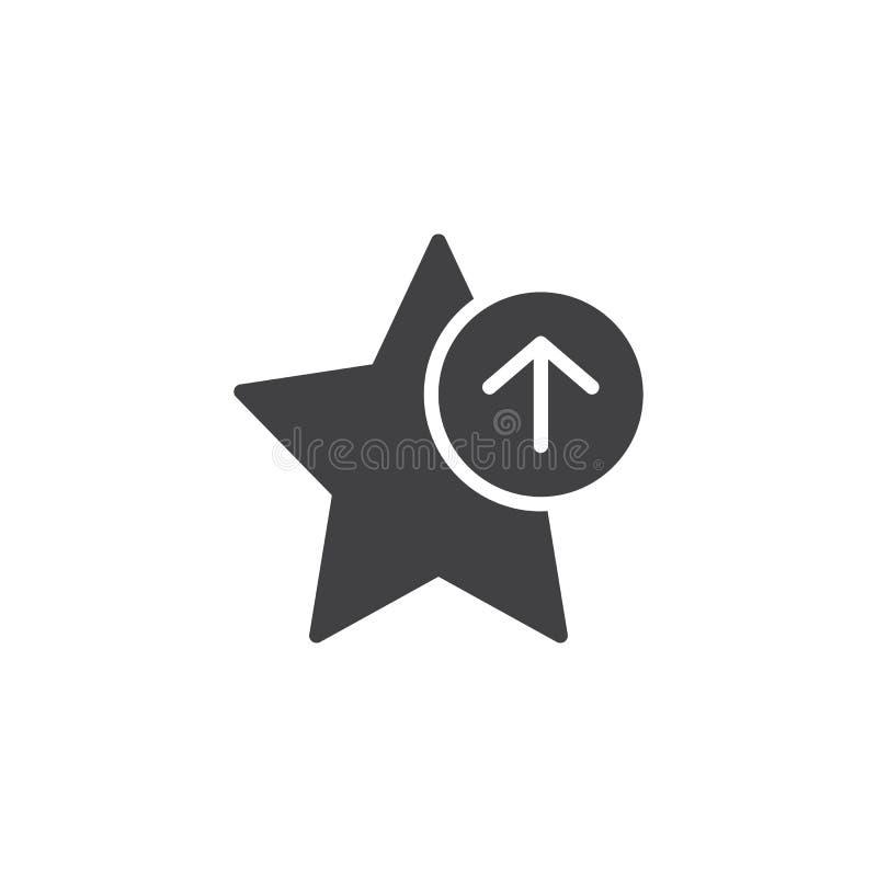 De ster vectorpictogram van de aandeel favoriet referentie vector illustratie