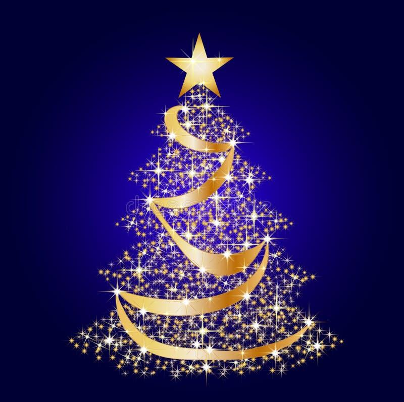 De sterboom van Kerstmis royalty-vrije illustratie
