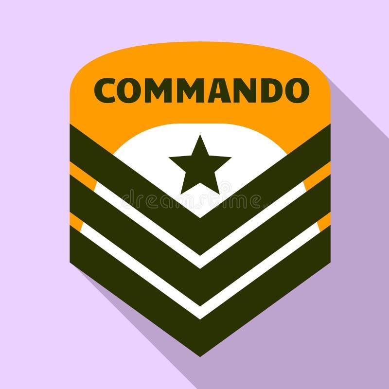 De sterembleem van de commandolucht, vlakke stijl vector illustratie