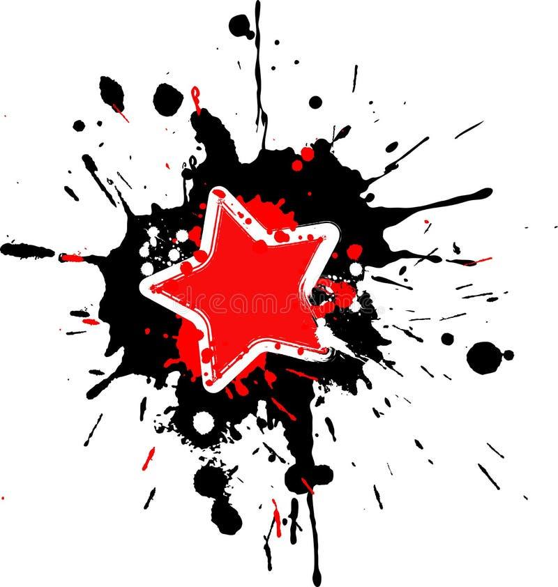 De sterframe van Grunge stock illustratie