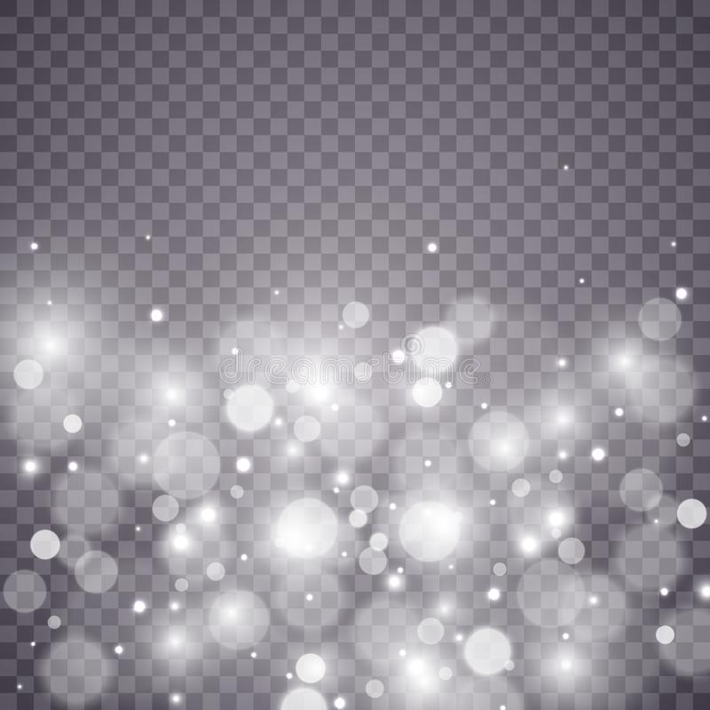 De sterren schitteren speciaal lichteffect Vectorfonkelingen op transparante achtergrond Kerstmis abstract patroon stock foto
