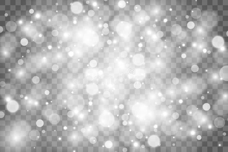 De sterren schitteren speciaal lichteffect Vectorfonkelingen op transparante achtergrond Kerstmis abstract patroon stock foto's