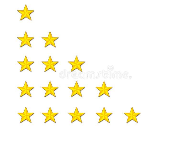 De sterren van de classificatie stock illustratie