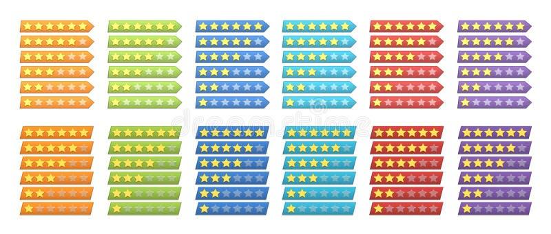De sterren van de classificatie royalty-vrije illustratie