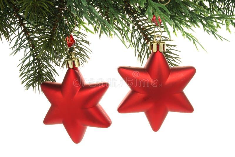 De Sterren van de Decoratie van Kerstmis royalty-vrije stock afbeelding