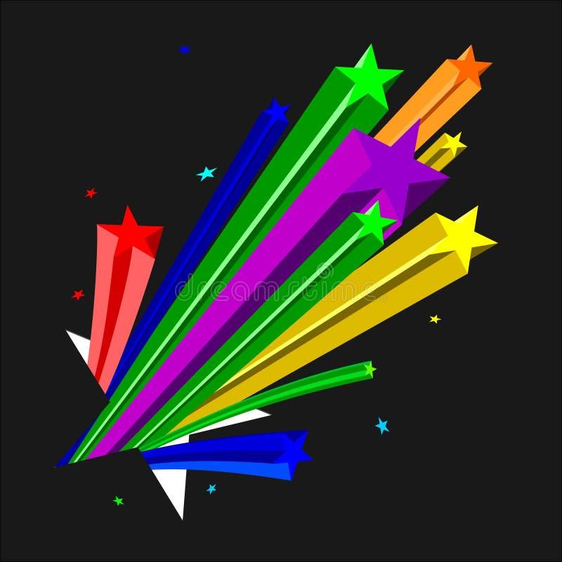De sterren van de kleur stock illustratie