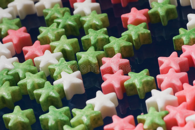 De sterren van de suiker stock afbeelding