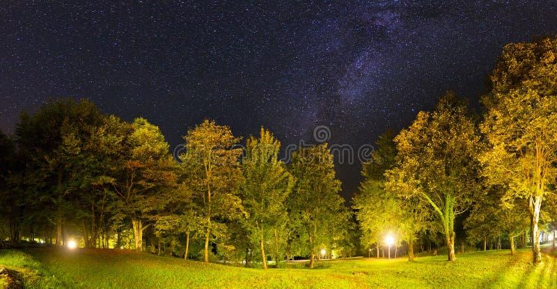 De sterren van het Plitvicepanorama stock afbeelding