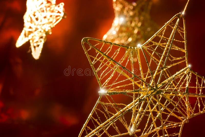 De sterren van Kerstmis stock foto's