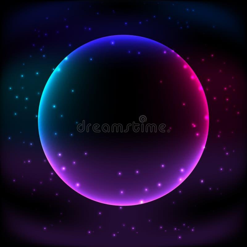 De sterrenachtergrond van de kosmische ruimte vector illustratie