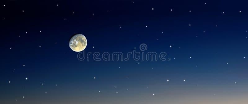 De sterrenhemel van de maan stock illustratie