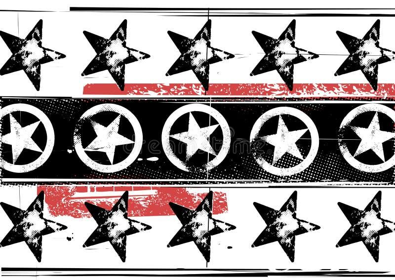 De sterrenpatroon van Grunge vector illustratie
