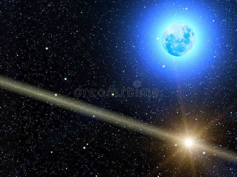 De sterrenplaneten van de hemel royalty-vrije stock afbeelding