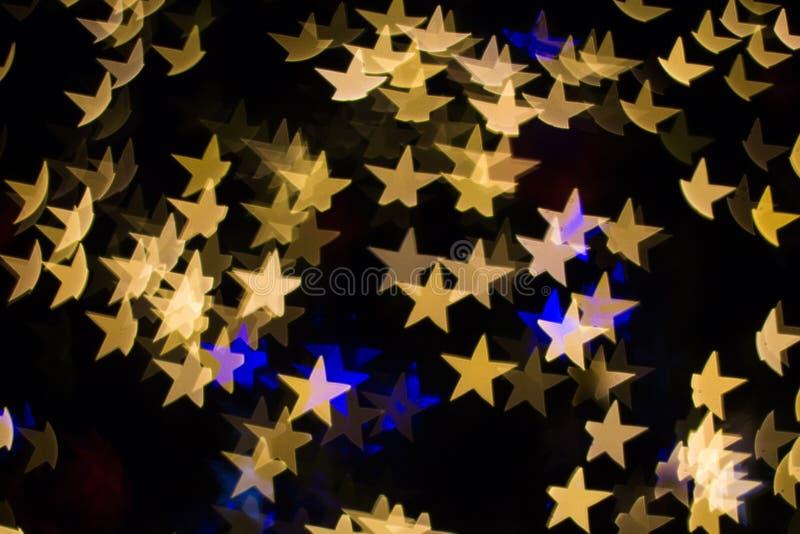 De stervorm van kleurenbokeh stock afbeelding