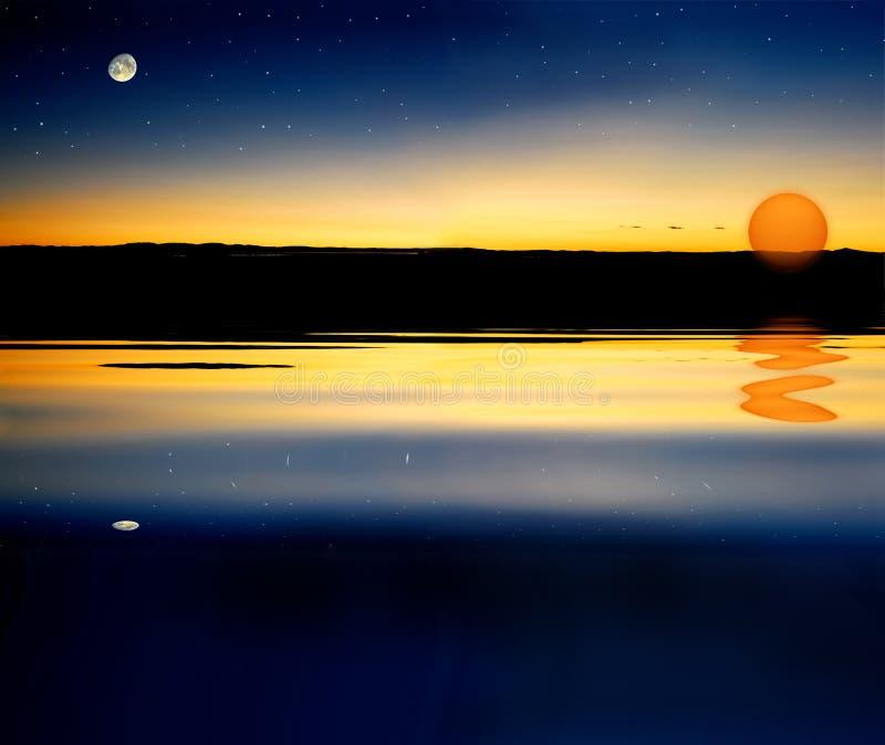 De sterzon van de maan stock illustratie