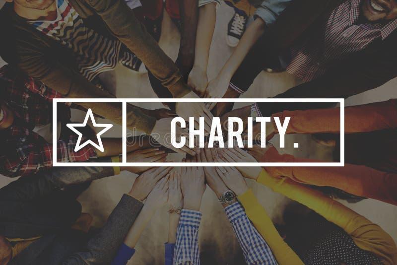 De Steun van de de Schenkingsgrootmoedigheid van het liefdadigheidswelzijn geeft Hulpconcept stock fotografie