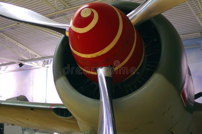 De Steun van het Vliegtuig van WO.II met Spiraal stock afbeeldingen