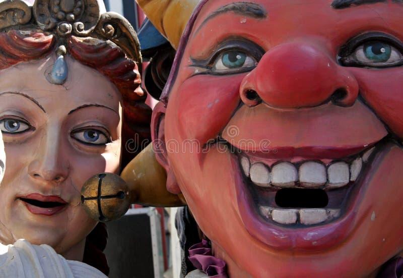 De Steunen van Carnaval stock foto's