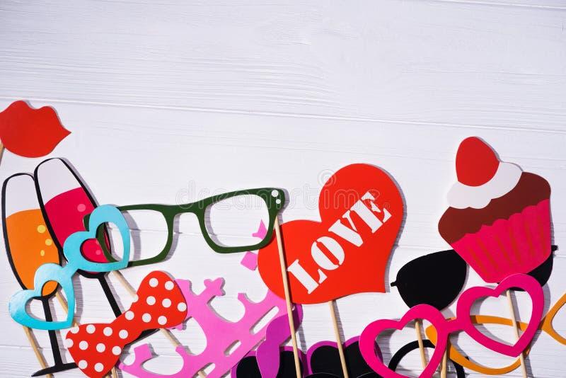 De steunen van de fotocabine voor huwelijk royalty-vrije stock fotografie