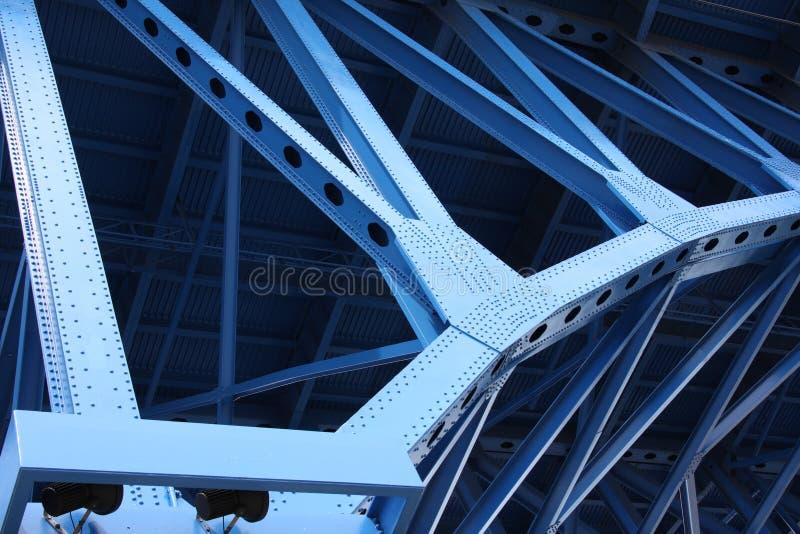 De steunstralen van de brug royalty-vrije stock afbeeldingen