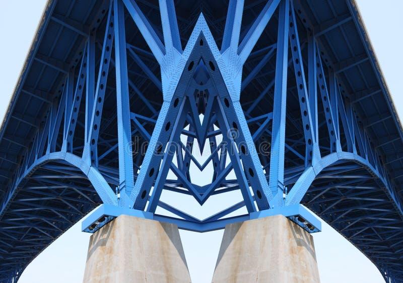 De steunstralen van de brug royalty-vrije stock foto's