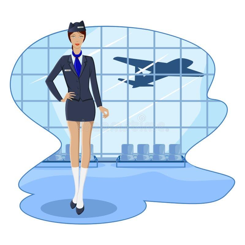 De Stewardess van de lucht stock illustratie