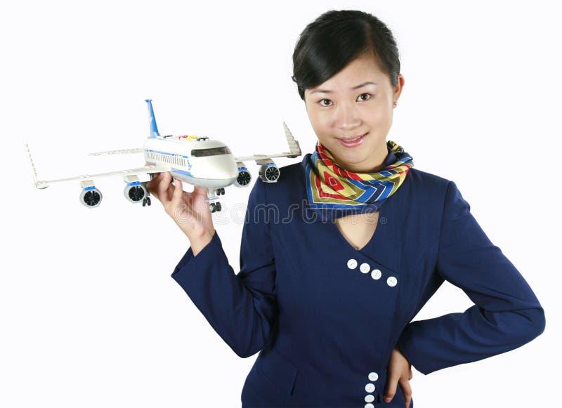 De stewardess van de lucht stock afbeeldingen