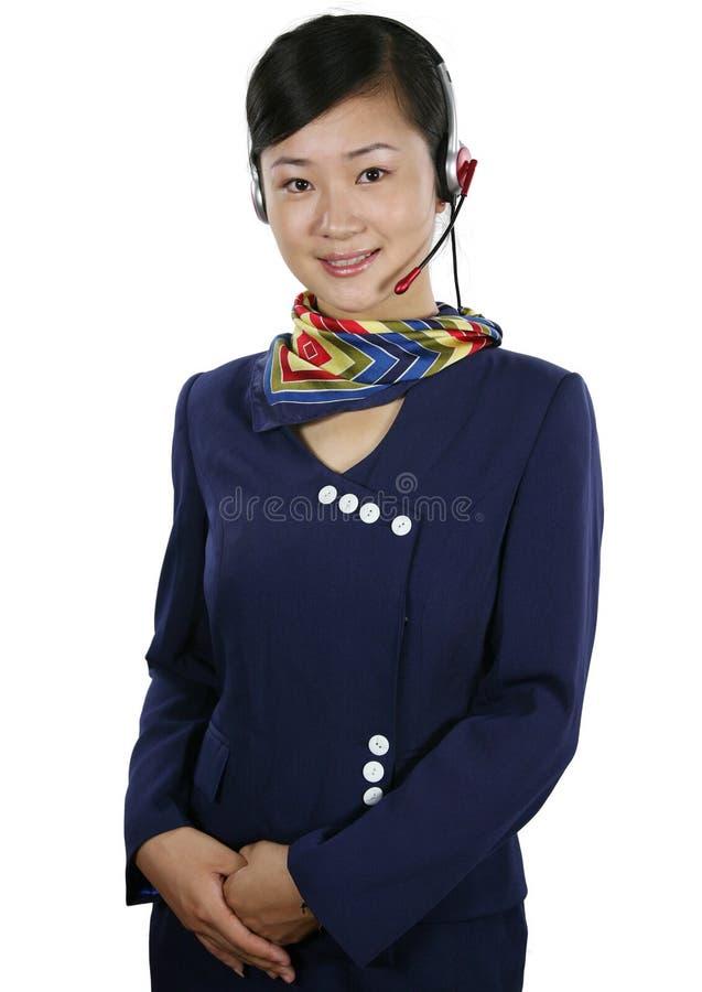 De stewardess van de lucht royalty-vrije stock afbeeldingen