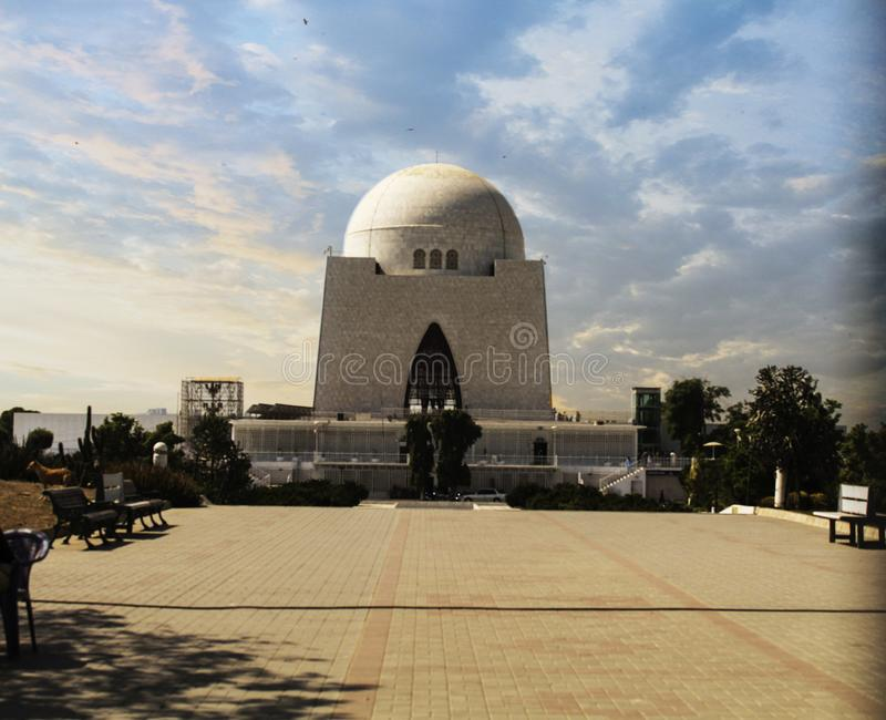 De stichter van Pakistan, Muhammad Ali Jinnah Iconi stock fotografie