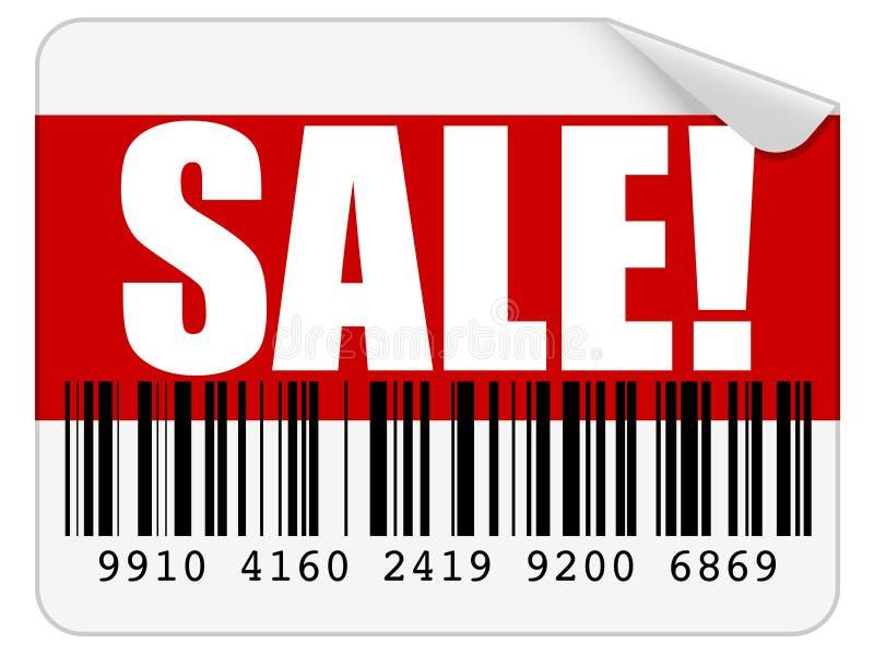 De Sticker van de verkoop stock illustratie
