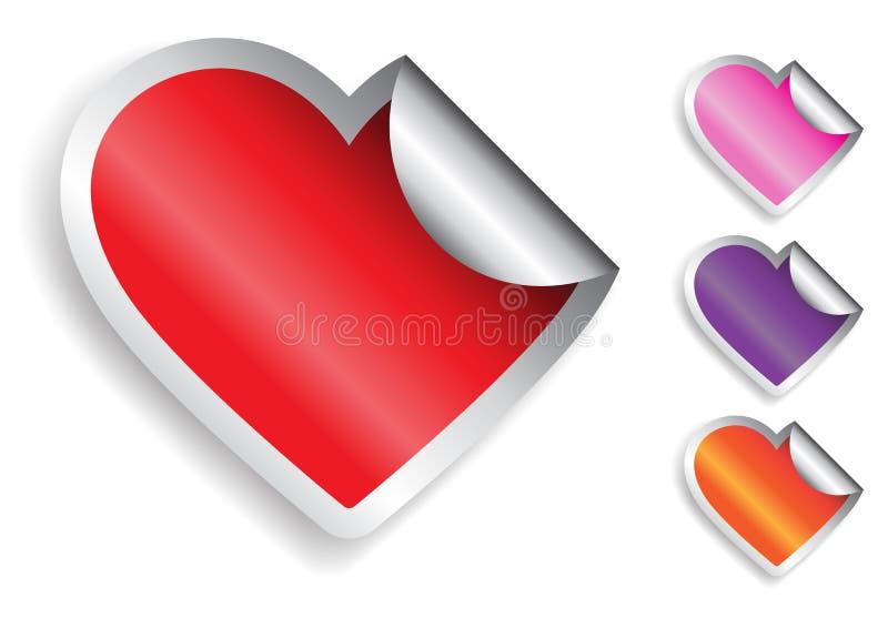 Download De Sticker van het hart vector illustratie. Illustratie bestaande uit emotie - 29507305
