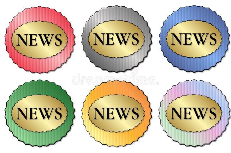 De Sticker van het nieuws royalty-vrije illustratie