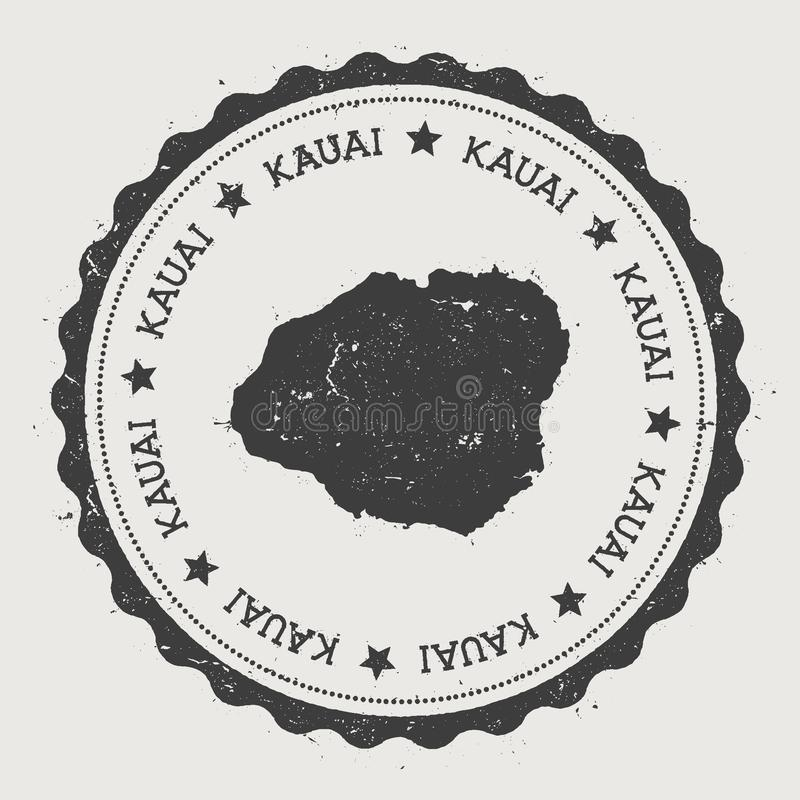 De sticker van Kauai stock illustratie