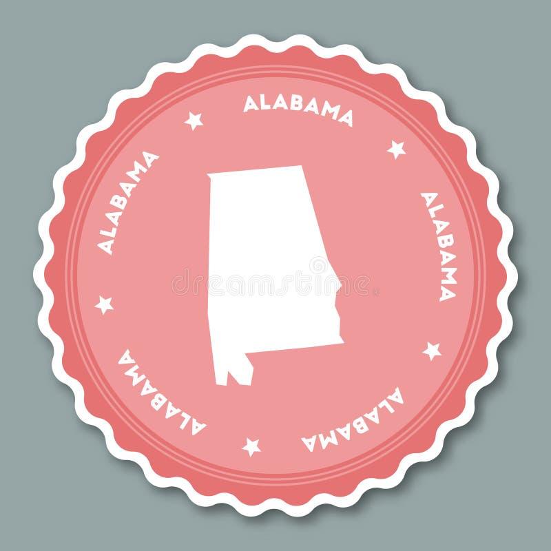 De sticker vlak ontwerp van Alabama royalty-vrije illustratie