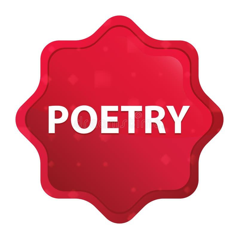 De stickerknoop van poëzie nevelige rozerode starburst royalty-vrije illustratie