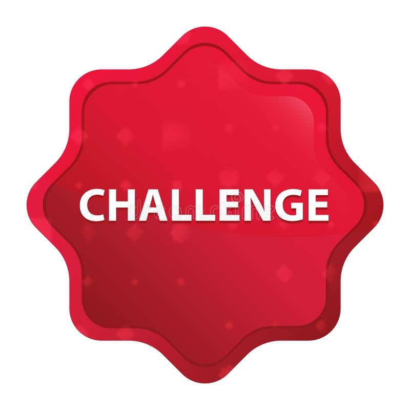 De stickerknoop van uitdagings nevelige rozerode starburst vector illustratie