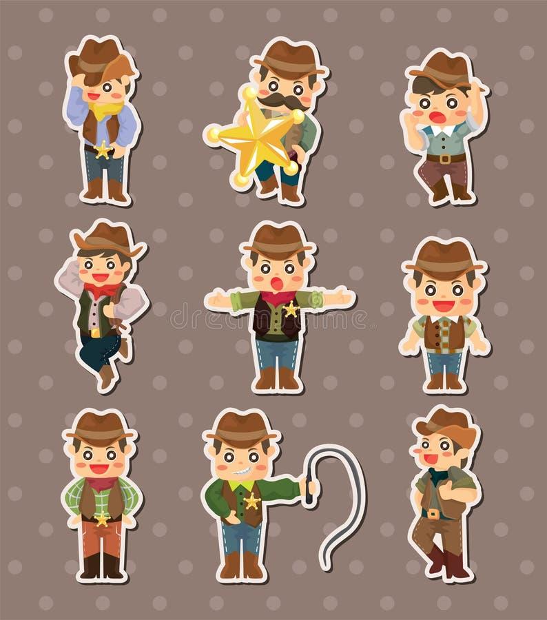De stickers van de cowboy vector illustratie