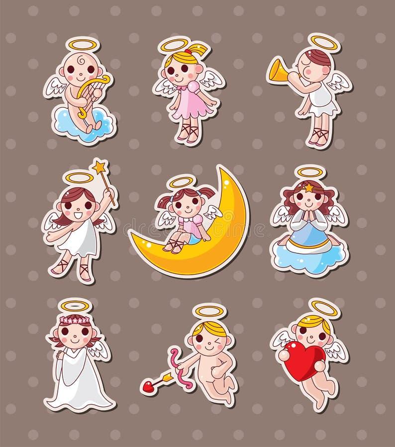De stickers van de engel vector illustratie