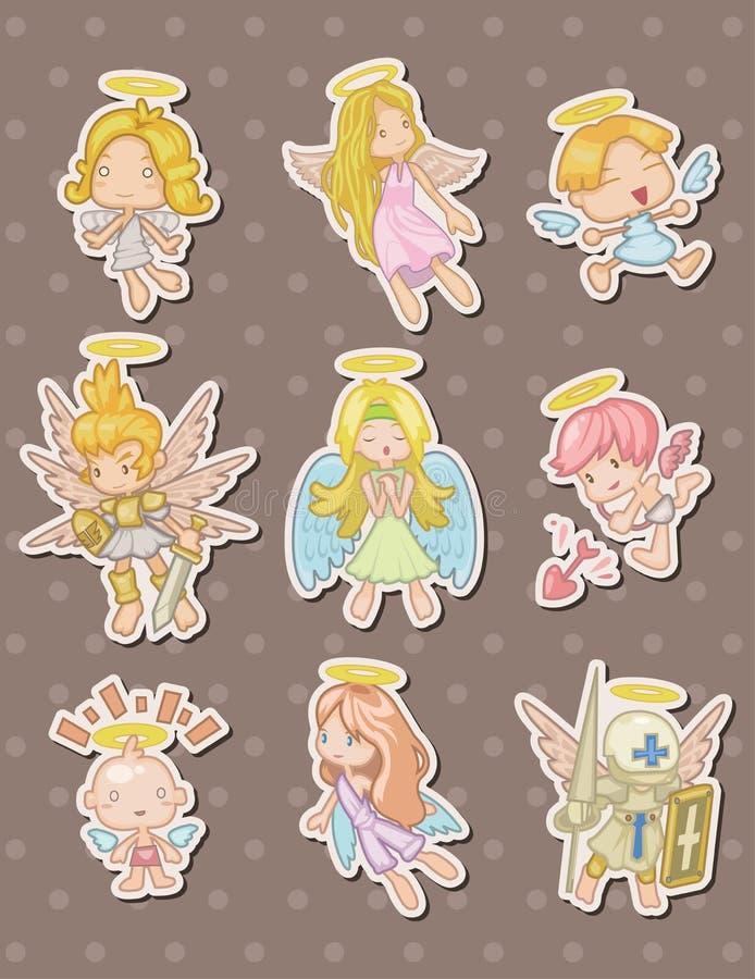 De stickers van de engel stock illustratie