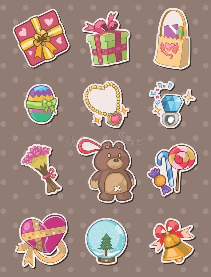 De stickers van de gift vector illustratie